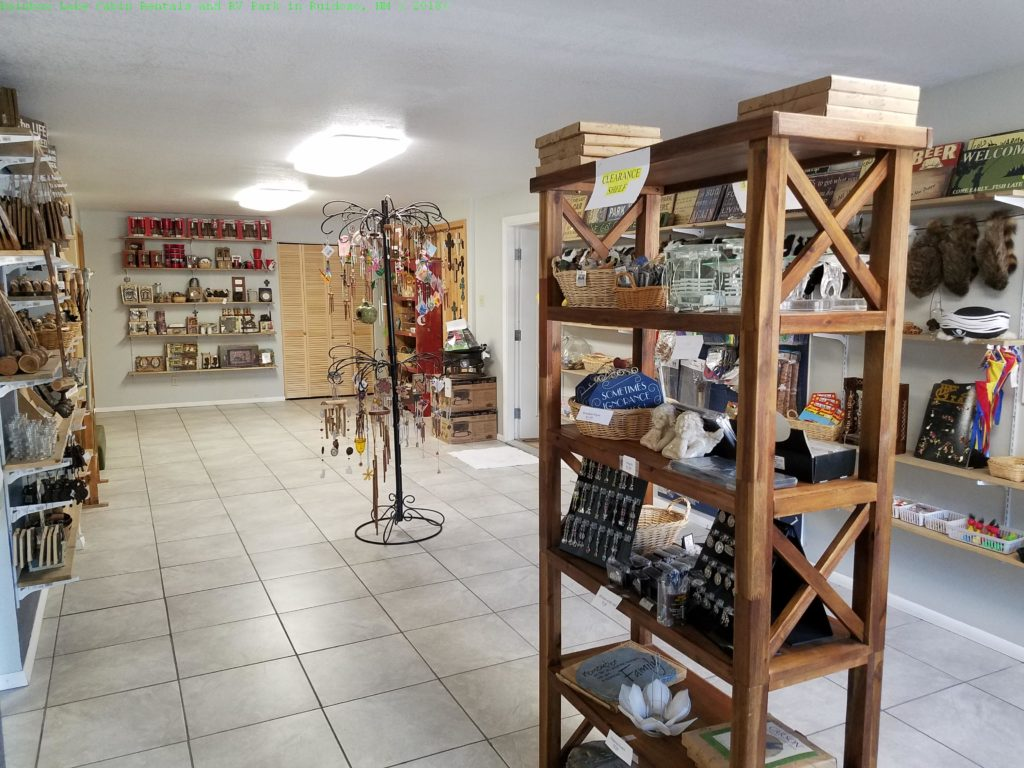 Rainbow Lake Cabin Rentals and RV Park in Ruidoso, NM: Gift Shop