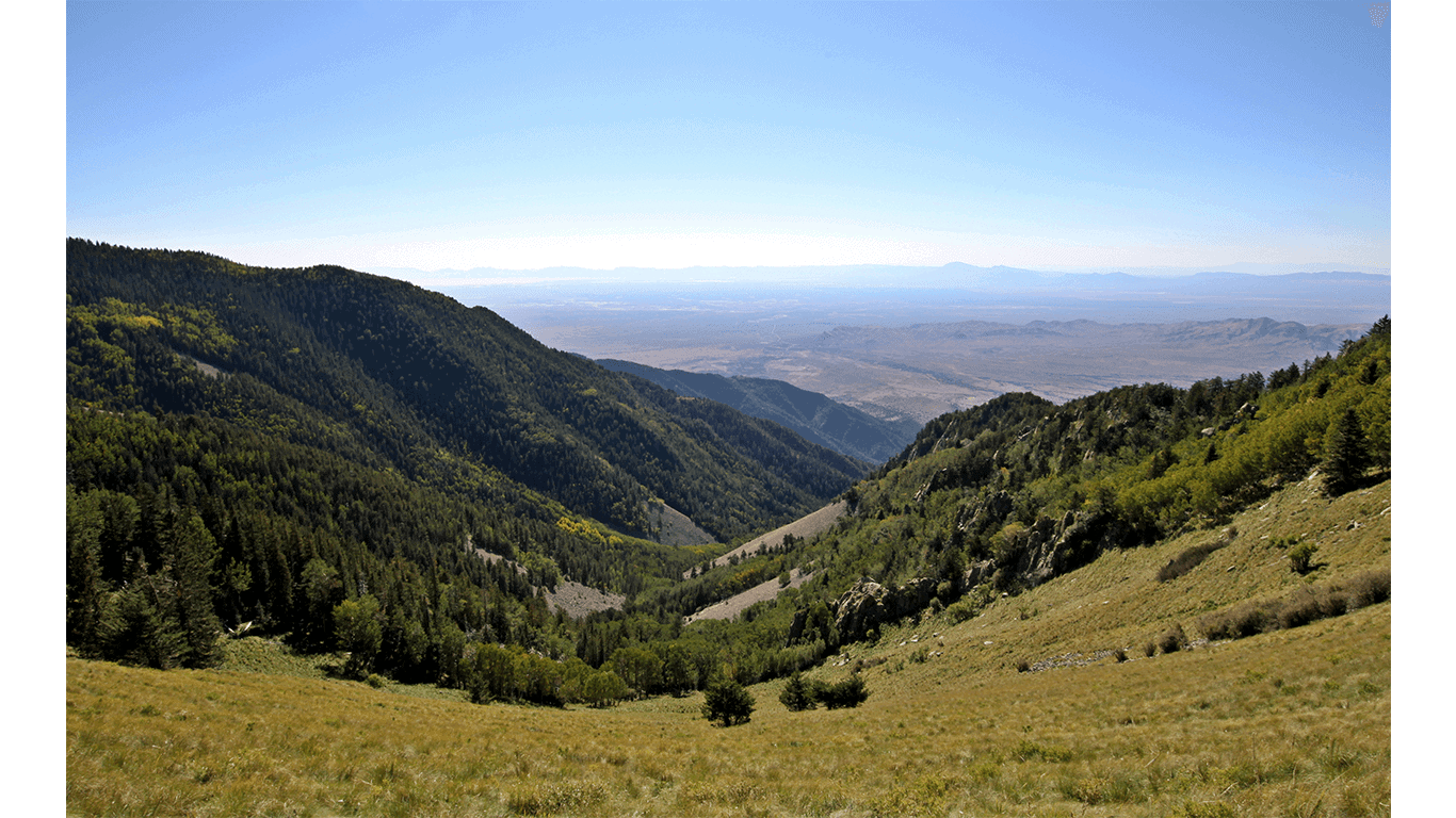 Ruidoso, NM from Lincoln National Forest