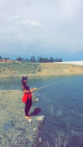 Fishing Near Rainbow Lake